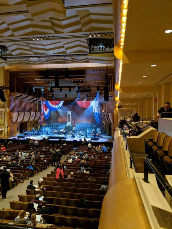 David Geffen Hall, secção: First Tier, fila: AA, lugar: 22