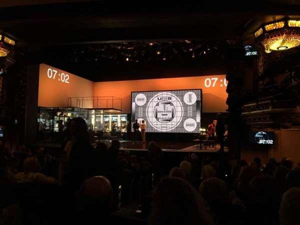 Belasco Theatre, secção: Orchestra R, fila: O, lugar: 6