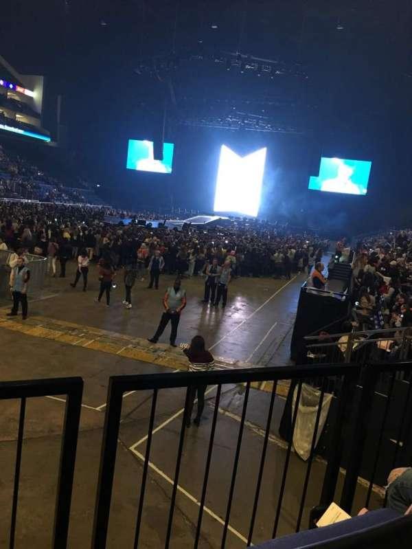 The O2 Arena, secção: 108, fila: J, lugar: 250