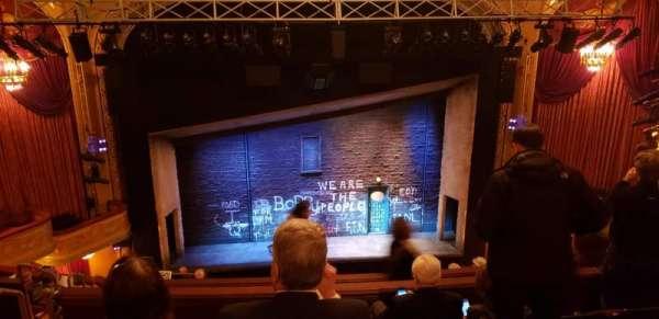 Bernard B. Jacobs Theatre, secção: Mezzanine C, fila: J, lugar: 111