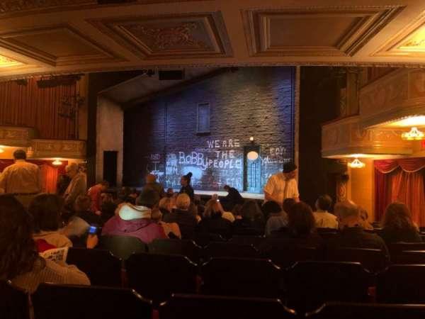 Bernard B. Jacobs Theatre, secção: Orchestra R, fila: P, lugar: 22
