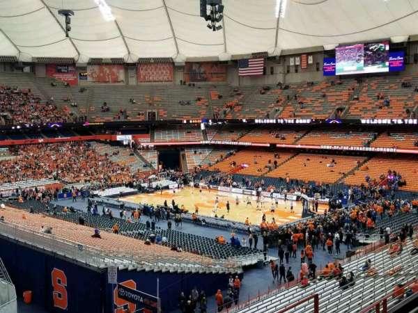 Carrier Dome, secção: 320, fila: E, lugar: 6