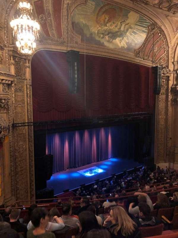 Chicago Theatre, secção: Balcony, fila: F, lugar: 113