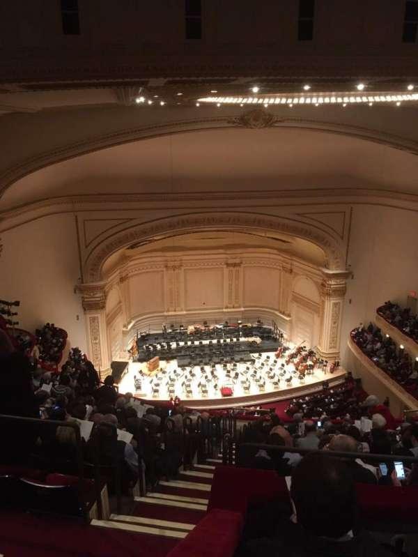 Carnegie Hall, secção: Upper Balcony LC, fila: N, lugar: 13