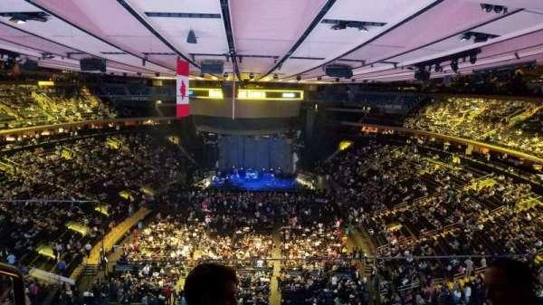 Madison Square Garden, secção: 306, fila: 2, lugar: 2