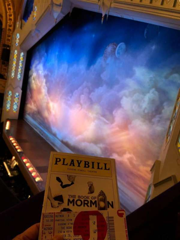 Eugene O'Neill Theatre, secção: Right Box, fila: B, lugar: 1