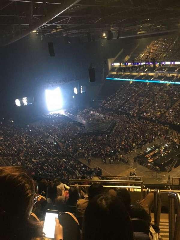The O2 Arena, secção: 408, fila: M, lugar: 630