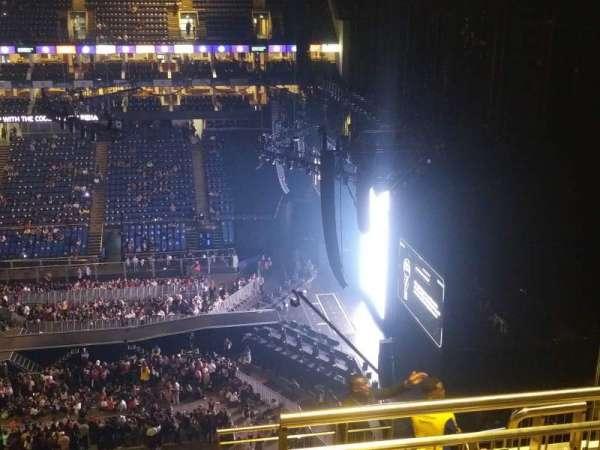 The O2 Arena, secção: 421, fila: K, lugar: 12