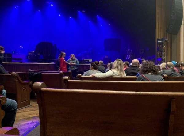 Ryman Auditorium, secção: MF-5, fila: H, lugar: 11,12
