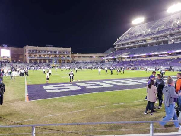 Amon G. Carter Stadium, secção: 118, fila: B, lugar: 7