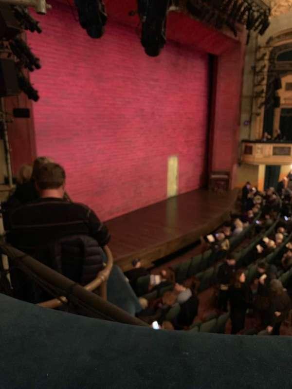 Shubert Theatre, secção: Mezzanine, fila: A, lugar: 27