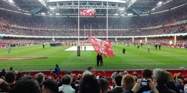 Principality stadium, secção: 340, fila: 15, lugar: 25