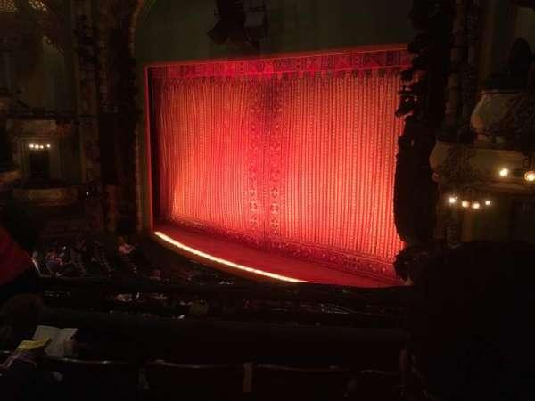 New Amsterdam Theatre, secção: Mezzanine R, fila: DD, lugar: 28