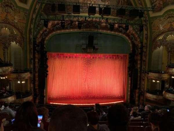 New Amsterdam Theatre, secção: Mezzanine C, fila: HH, lugar: 115