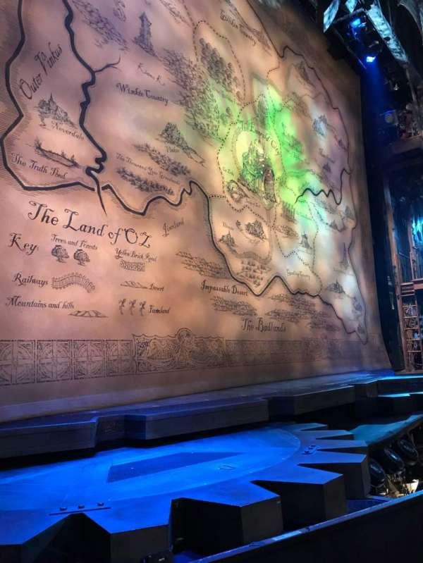 Gershwin Theatre, secção: Orch, fila: DD, lugar: 3