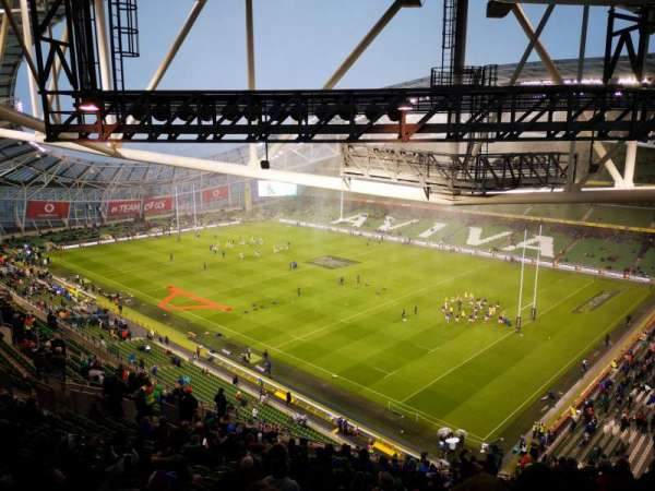Aviva stadium , secção: 520, fila: X, lugar: 17