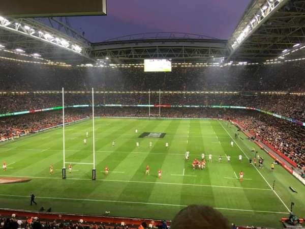 Principality Stadium, secção: UN1, fila: 24, lugar: 12