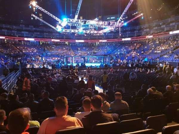 The O2 Arena, secção: 115, fila: C, lugar: 452