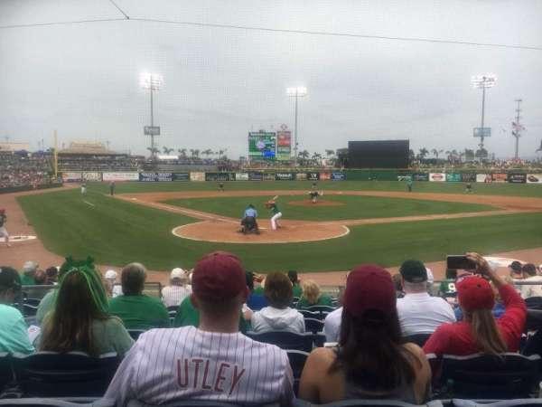BayCare Ballpark, secção: 110, fila: 10, lugar: 6