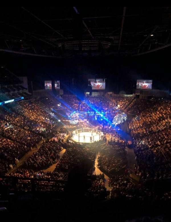 The O2 Arena, secção: 412, fila: G, lugar: 736