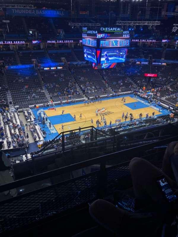 Chesapeake Energy Arena, secção: 326, fila: J, lugar: 4