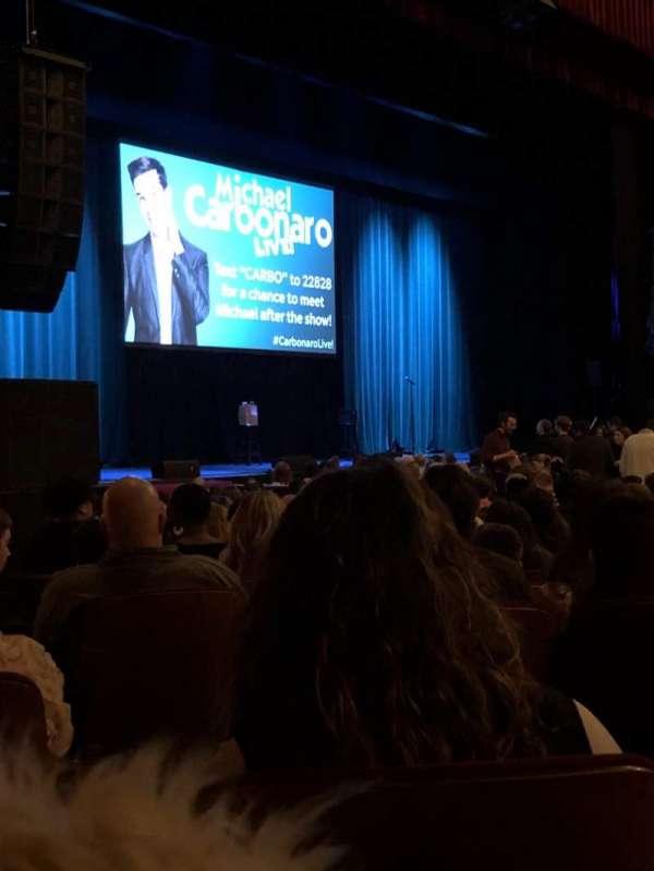 Chicago Theatre, secção: Mnfl2L, fila: D, lugar: 107