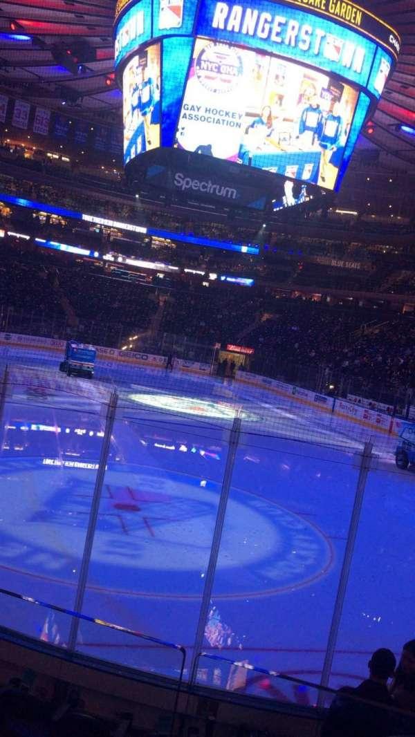 Madison Square Garden, secção: 101, fila: 7, lugar: 6
