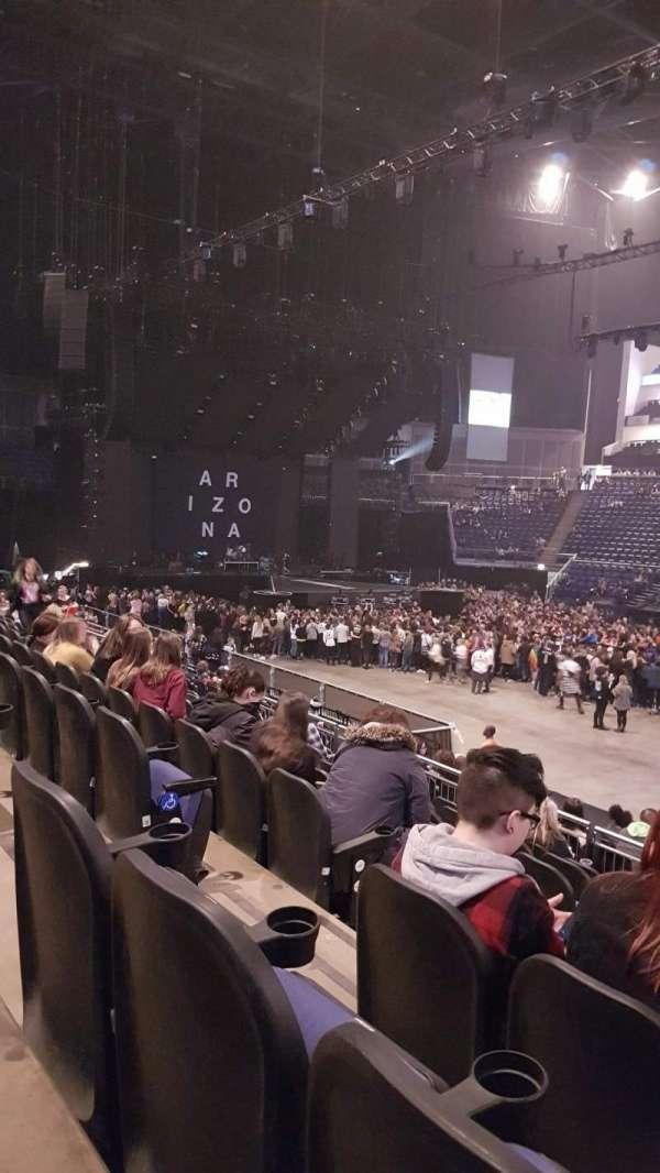 The O2 Arena, secção: 103, fila: Q, lugar: 93