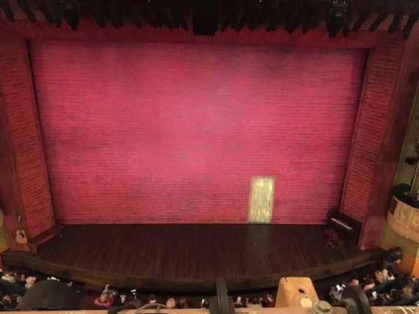 Shubert Theatre, secção: balcony, fila: A, lugar: 108