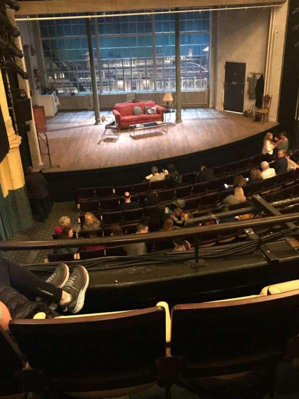 Hudson Theatre, secção: Dress Circle L, fila: C, lugar: 7