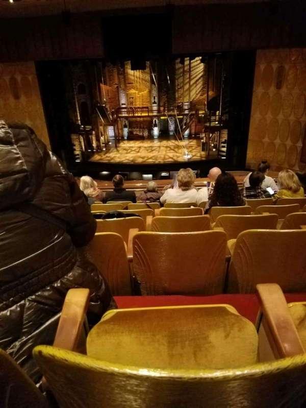 Fisher Theatre, secção: LRTCNT, fila: G, lugar: 108