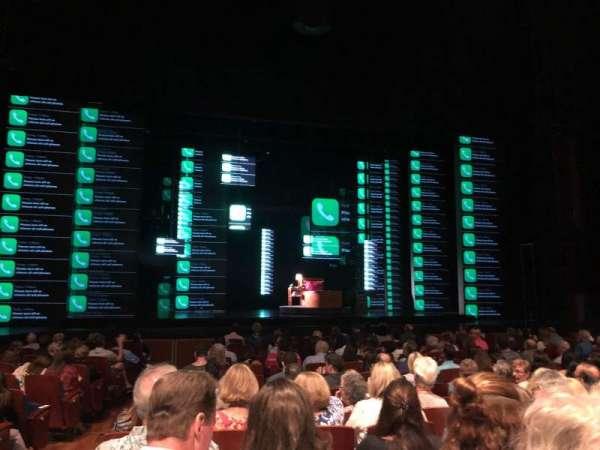 Au-Rene Theatre at the Broward Center, secção: Orchestra C, fila: P, lugar: 112