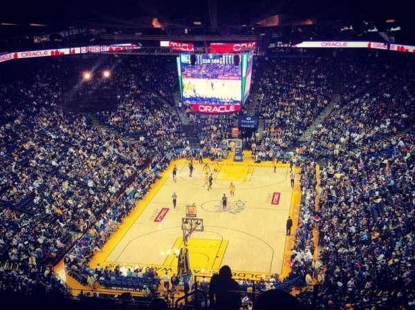 Oracle Arena, secção: 208, fila: 16, lugar: 1