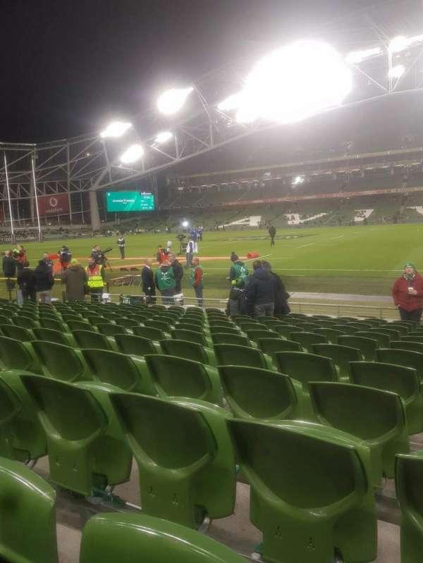 Aviva Stadium, secção: Block 123, fila: M, lugar: 17