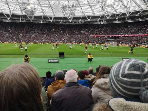 London Stadium, secção: 110, fila: 6, lugar: 263