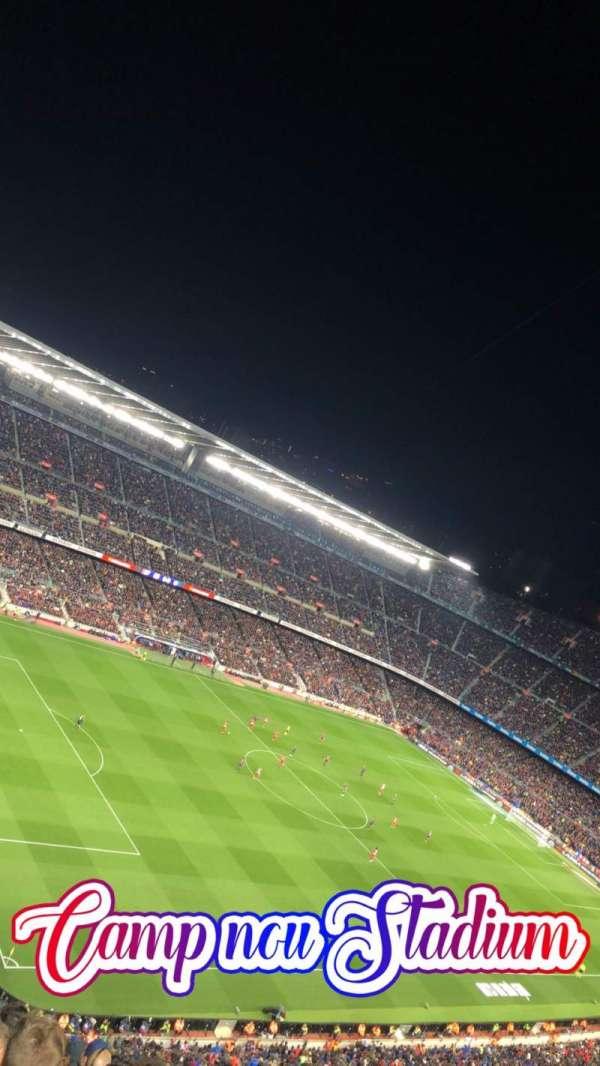Camp Nou, secção: 428, fila: 14, lugar: 17