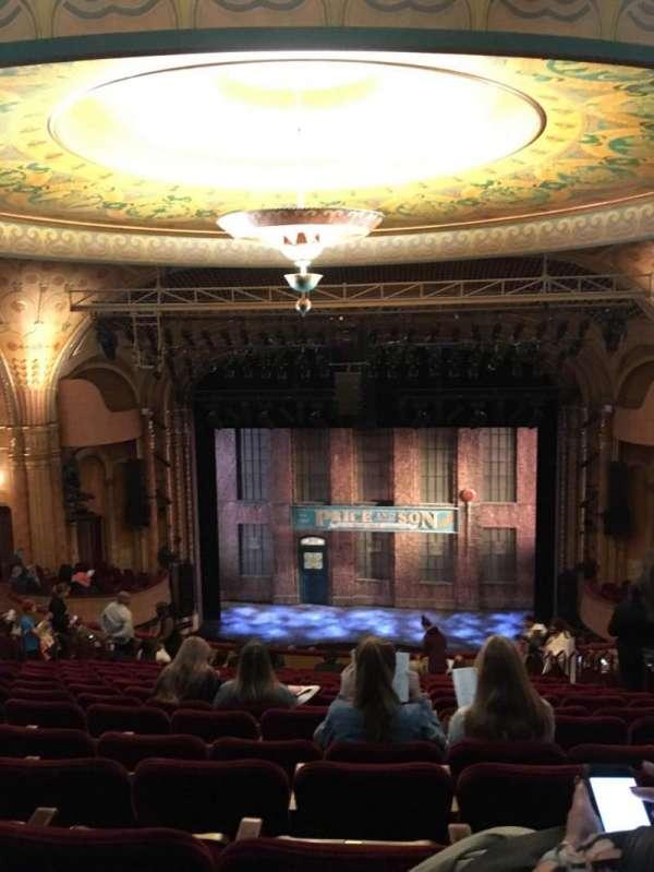 Al Hirschfeld Theatre, secção: Mezzanine C, fila: S, lugar: 105