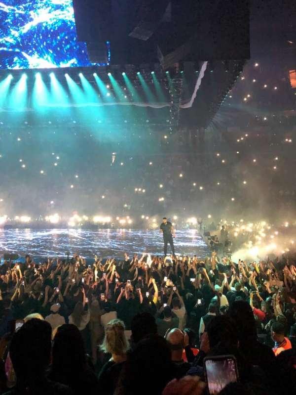 The O2 Arena, secção: 102, fila: J, lugar: 85