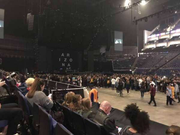 The O2 Arena, secção: 102, fila: E, lugar: 81,82