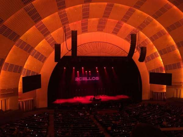 Radio City Music Hall, secção: 2nd Mezzanine 6, fila: B, lugar: 602