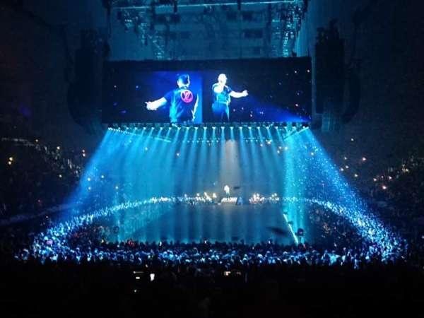 The O2 Arena, secção: 107, fila: S, lugar: 210