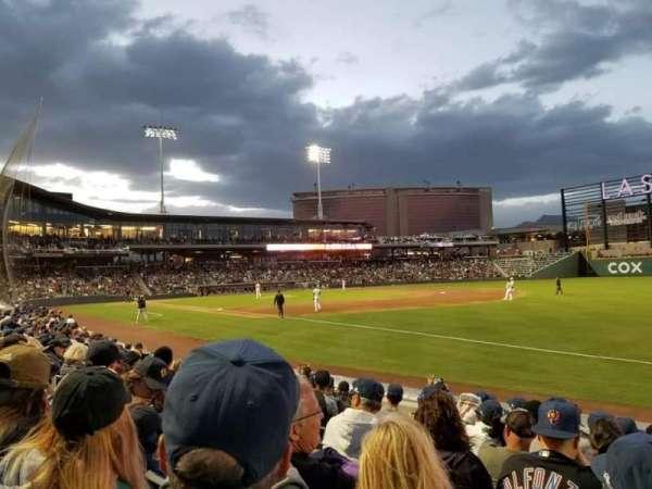 Las Vegas Ballpark, secção: 103, fila: H, lugar: 11