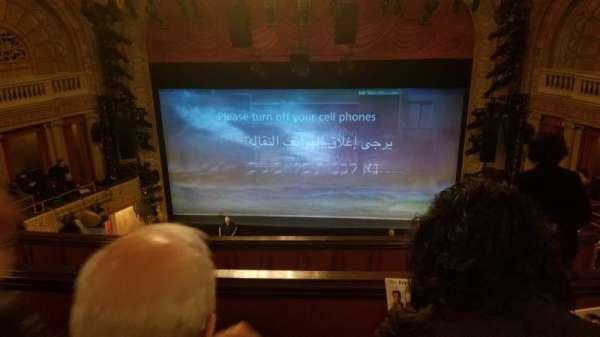 Ethel Barrymore Theatre, secção: Rear Mezzanine C, fila: C, lugar: 111