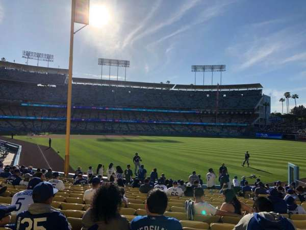 Dodger Stadium, secção: 50Fd, fila: S, lugar: 15