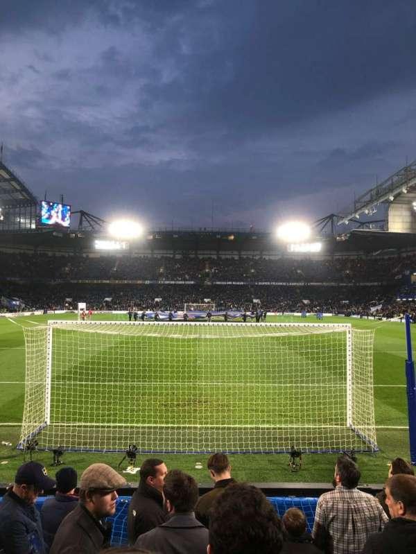 Stamford Bridge, secção: Shed Lower, fila: 9, lugar: 110
