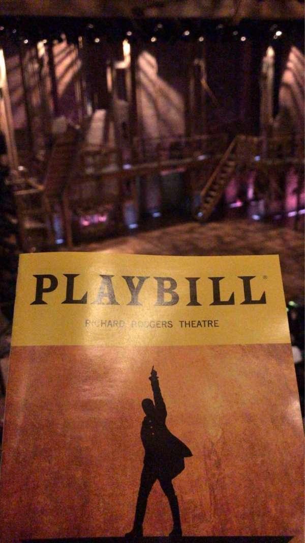Richard Rodgers Theatre, secção: Front Mezzanine L, fila: C, lugar: 17