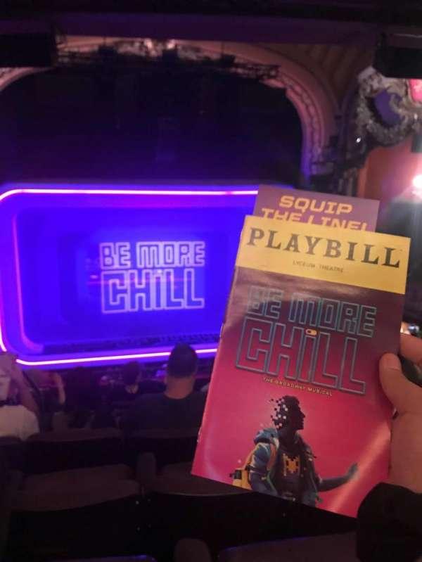 Lyceum Theatre (Broadway), secção: MEZZC, fila: H, lugar: 111