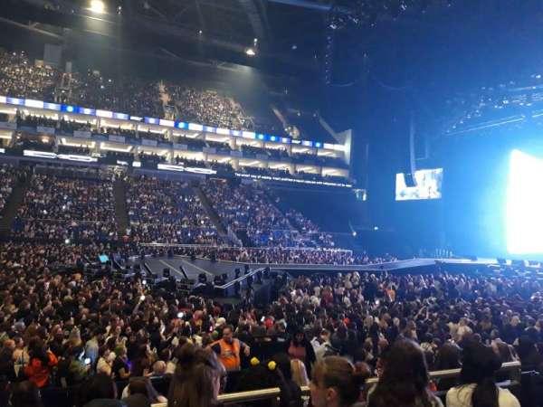 The O2 Arena, secção: 111, fila: K, lugar: 335