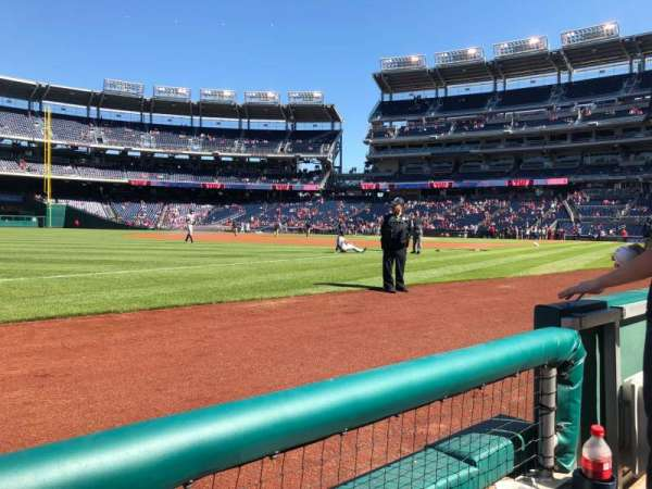 Nationals Park, secção: 111, fila: A, lugar: 4