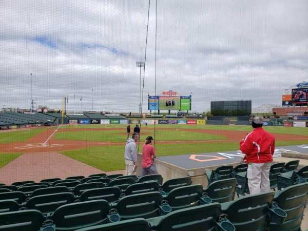 Louisville Slugger Field, secção: 112, fila: J, lugar: 5